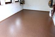 neu verlegter Garagenboden