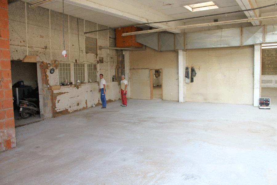Für Beschichtung vorbereitete Bodenfläche